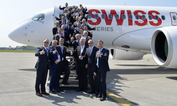 Bombardier C Series aircraft reaches for the stars with historic first passenger flight from Dublin to Zurich