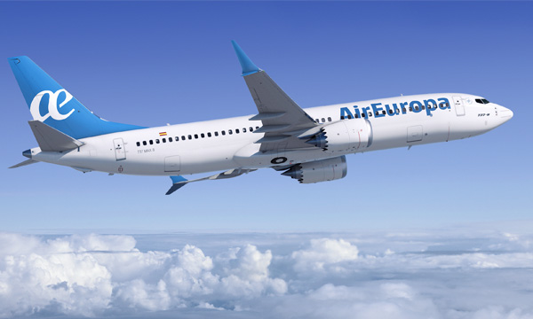 Air Europa announce order for 20 737 MAX 8s
